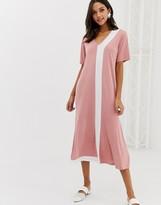 NATIVE YOUTH maxi t-shirt dress with peplum hem