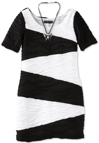 My Michelle Girls 7-16 Short Sleeve Colorblock Dress