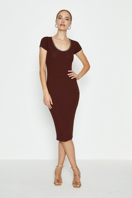 Coast Chain Neck Knitted Dress