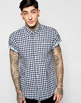 Scotch & Soda Shirt With Gingham Check Short Sleeves In Slim Fit