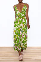 Jon & Anna Green Floral Maxi Dress