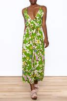 Jon & Anna Green Floral Maxi Dress