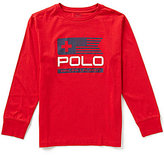 Ralph Lauren Big Boys 8-20 Sleek Graphic Long-Sleeve Jersey Tee