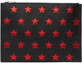 Saint Laurent Black & Red Stars Document Holder