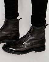 Base London Valiant Lace-Up Leather Boots