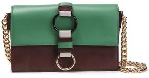 Diane von Furstenberg Bonne Journee Color-block Leather Shoulder Bag