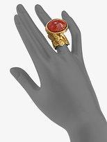 Saint Laurent Arty Ovale Ring/Bright Goldtone