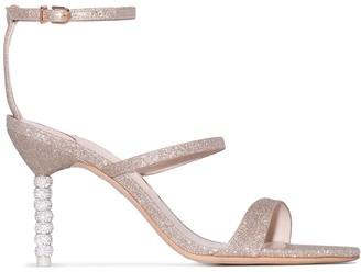 Sophia Webster Rosalind Crystal 85mm glitter sandals