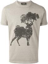 DSQUARED2 deer print T-shirt - men - Cotton - M