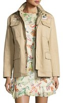 RED Valentino Embroidered Military Jacket, Sand