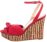 Charlotte Olympia Canvas Wedge Sandals