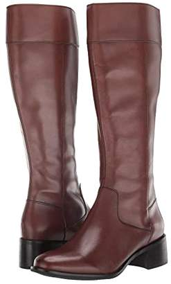 Cole Haan Cora Riding Boot (Brown Leather) Women's Shoes
