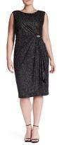 Marina Glitter Jersey Midi Dress (Plus Size)