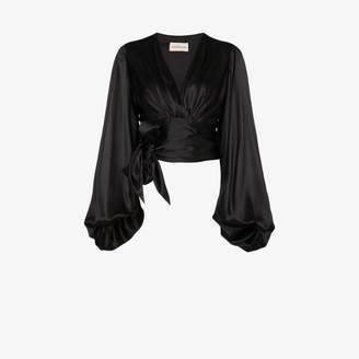 Alexandre Vauthier balloon sleeve silk blouse