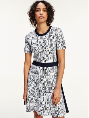 Tommy Hilfiger Short-Sleeve Logo Dress