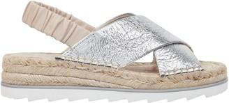 Marc Fisher Pella Metallic Leather Slingback Espadrille Sandals