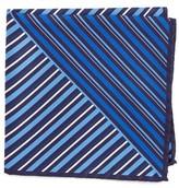 Eton Men's Stripe Silk Pocket Square