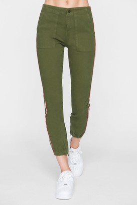 Pam And Gela Cargo Side Stripe Crop Joggers