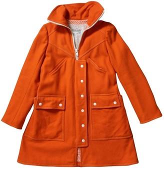 Courreges Orange Wool Coat for Women Vintage