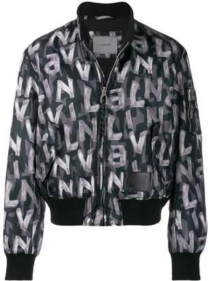 Lanvin Logo Zipped Bomber Jacket