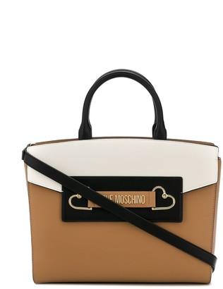 Love Moschino Tri-Colour Faux Leather Tote