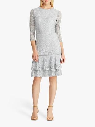 Ralph Lauren Ralph Halima Floral Lace Dress, Toile Blue/Black