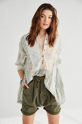 Free People Charlie Mixed Print Tunic