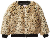 Design History Cheetah Faux Fur Bomber Jacket (Toddler & Little Girls)