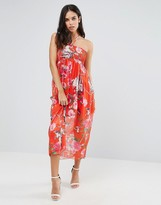 Traffic People Foral Print Bandeau Dress