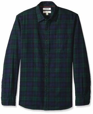 Goodthreads Amazon Brand Men's Standard-Fit Long-Sleeve Brushed Flannel Shirt