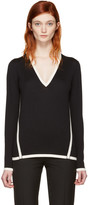 Lanvin Black Wool Contrast Pullover