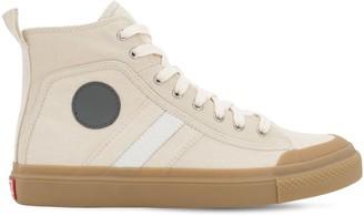 Diesel Gr Uniforma X Red Tag Cotton High Top Sneakers