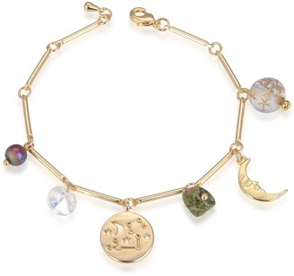 Eye Candy Los Angeles Leo Natural Stone Charm Bracelet
