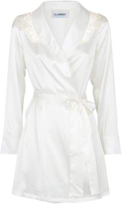 I.D. Sarrieri Embroidered Silk Robe