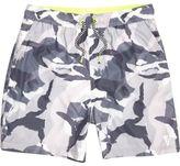 River Island Boys grey camo print swim shorts