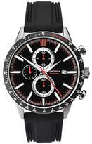 Sekonda 1594.27 Men's Chronograph Date Rubber Strap Watch, Black