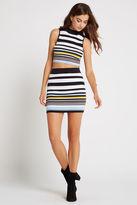 BCBGeneration Striped Rib Miniskirt