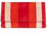 Karen Millen Brompton Striped Suede Clutch