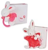 Doudou Et Compagnie Infant Girl's Strawberry Pink Bunny Rattle & Lovie Blanket Gift Set