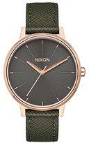 Nixon Women's 'Kensington' Quartz Metal and Leather Watch, Color:Green (Model: A1082283-00)