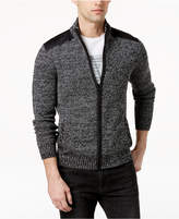 Kenneth Cole Reaction Men's Marled Full-Zip Mock-Collar Sweater