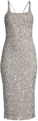 Parker Black Sage Sleeveless Sparkle Dress