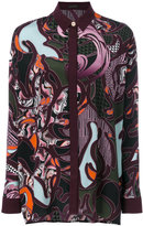 Versace Baroccoflage print shirt - women - Silk - 40