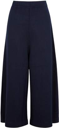 Crea Concept Navy Wide-leg Wool-blend Culottes