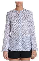 Xacus Women's Blue Cotton Shirt.