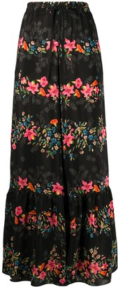 RED Valentino Floral Print Palazzo Trousers