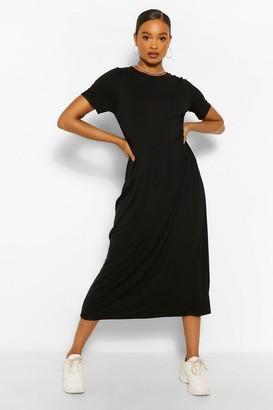 boohoo Drop Waist Midaxi Dress