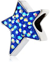 """Disney Stainless Crystal Heart """"Wish Upon A Star"""" Bead Charm"""