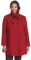 Larry Levine Wool Blend A-Line Babydoll Coat (Plus Size)