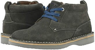 Florsheim Kids Navigator Chukka Jr. (Toddler/Little Kid/Big Kid) (Gray Suede/Gray Sole) Boys Shoes